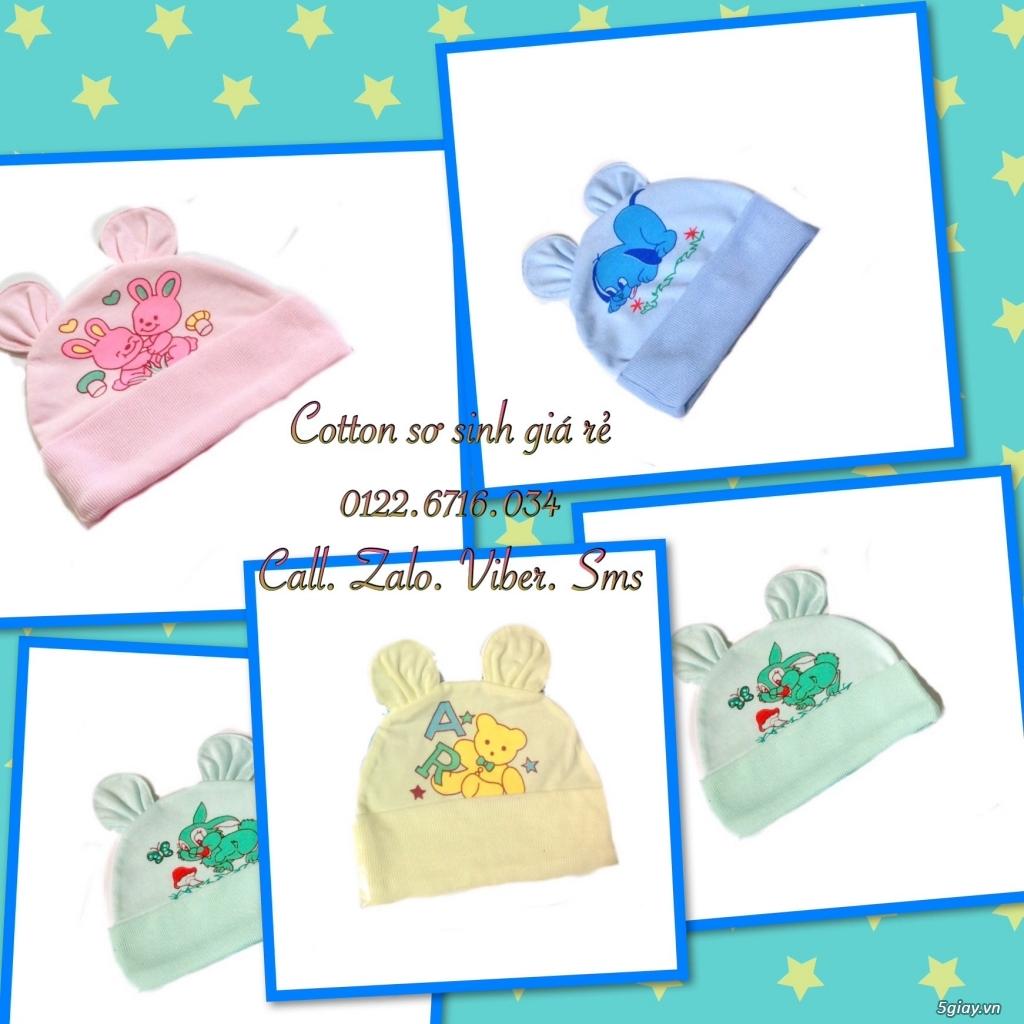 Áo quần cotton trẻ sơ sinh 12k, nón khăn bao tay chân, vớ giá rẻ new 100% hàng mới update - 17