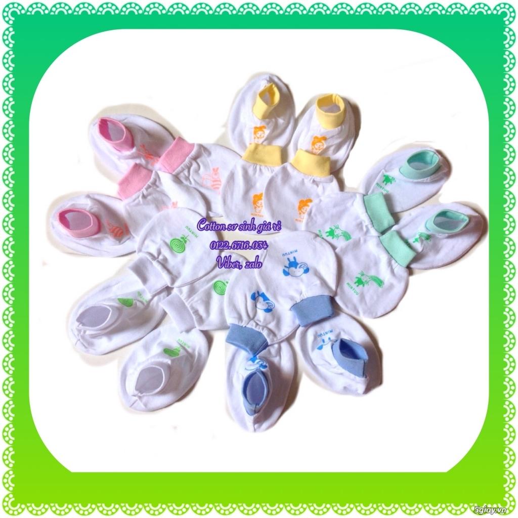 Áo quần cotton trẻ sơ sinh 12k, nón khăn bao tay chân, vớ giá rẻ new 100% hàng mới update - 16