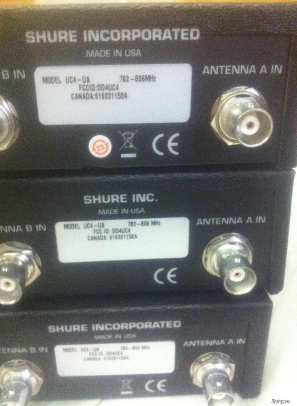 Bán Micro Shure không dây của Mỹ chính hãng ( Shure U4S UA, U4D UA, UC4 UA ) - 27