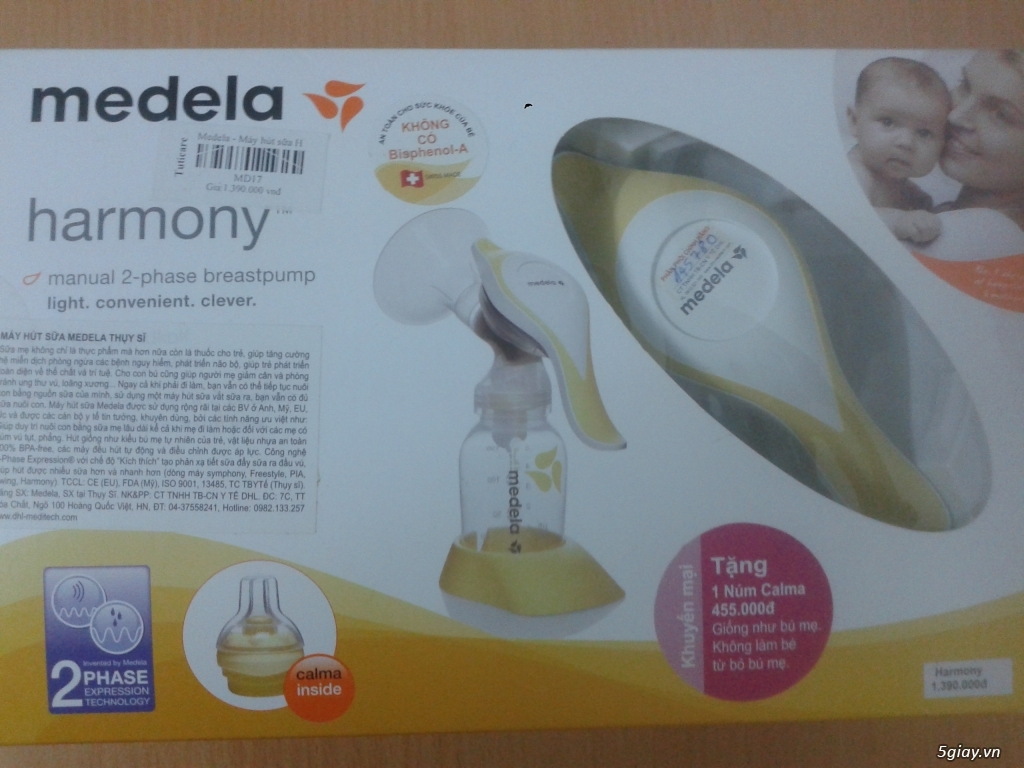 Cần bán máy hút sữa bằng tay Medela Harmony (chính hãng Thụy Sĩ)
