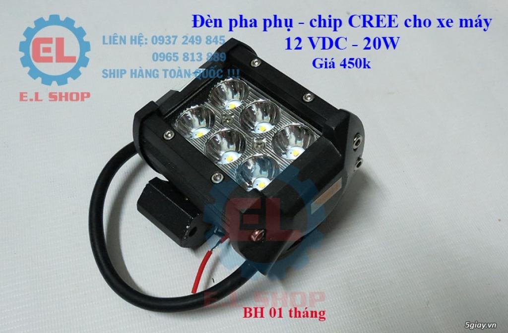 E.L SHOP Đèn led siêu sáng xe mô tô: XHP50, XHP70 i7, Cree, Philips Lumiled,Gương cầu LED xe gắn máy - 29