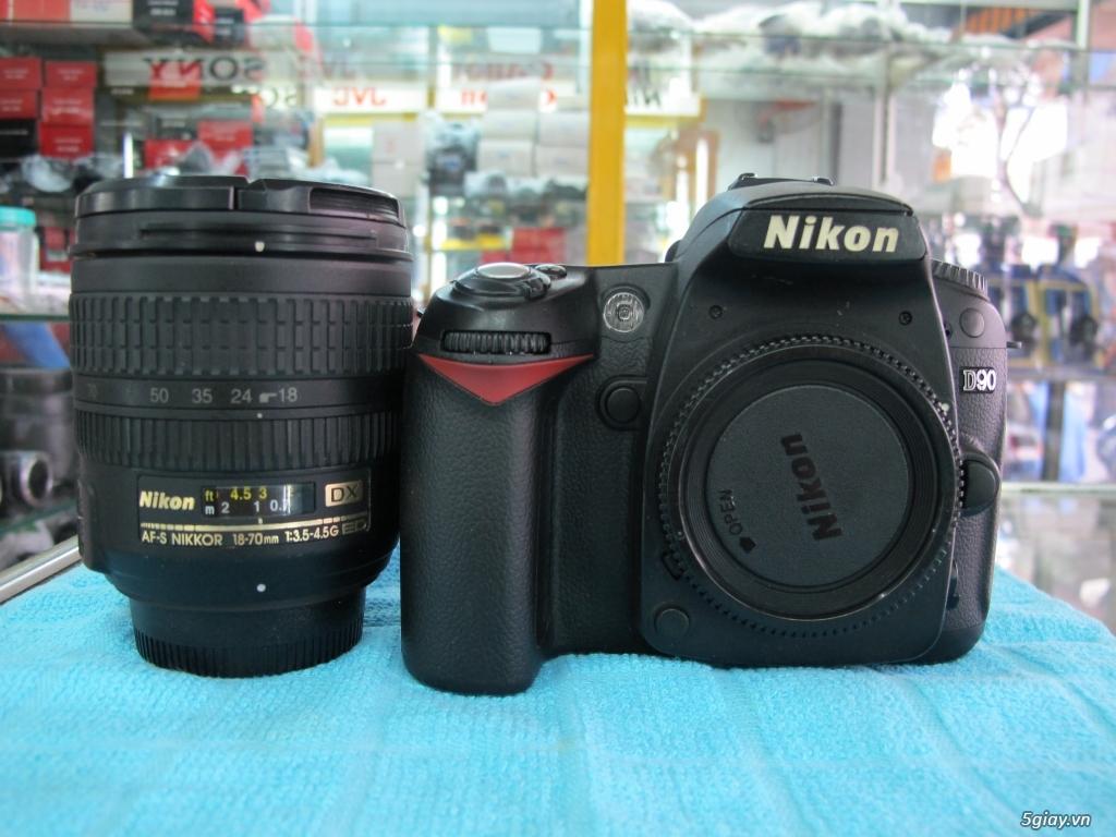 Nikon D90 hàng xách tay từ mỹ, ngoại hình mới 95%. 8,6k shot - 12