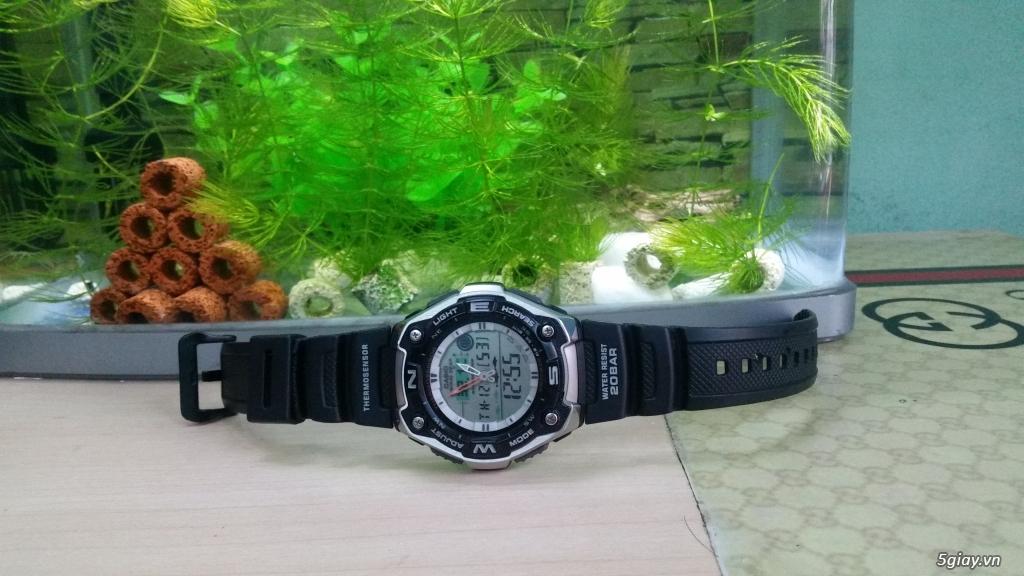 Casio Thermosensor AQW-101 Đẹp 99%,xách tay Nhật ! Câu cá và đo nhiệt độ !! - 1