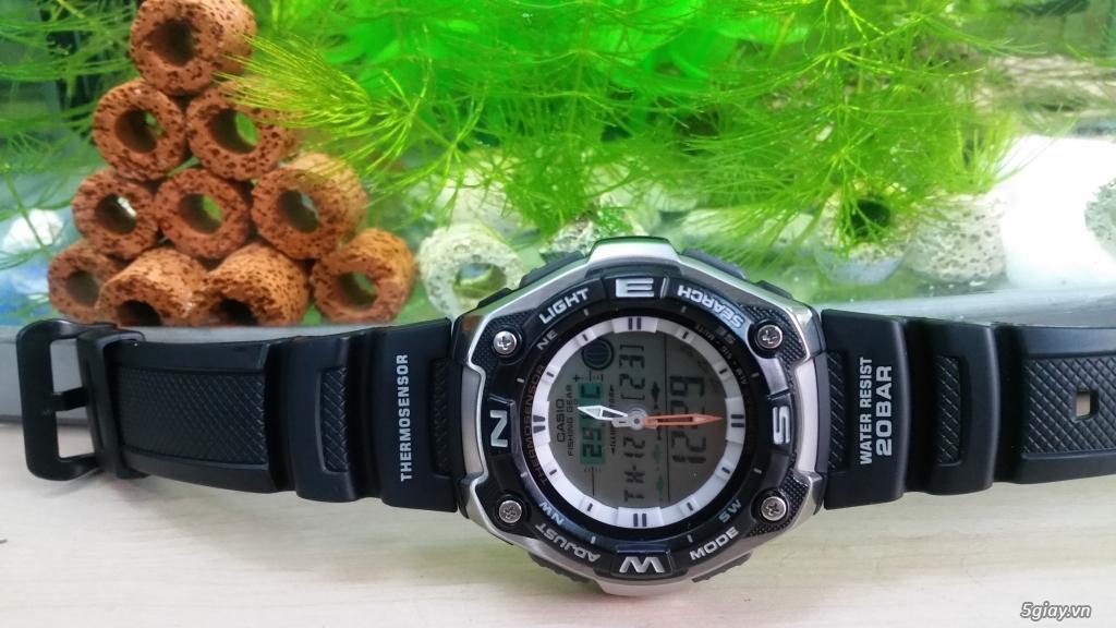 Casio Thermosensor AQW-101 Đẹp 99%,xách tay Nhật ! Câu cá và đo nhiệt độ !! - 2