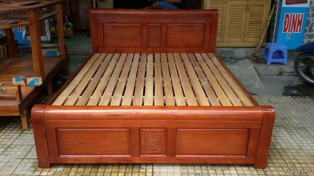 Giường  tủ salon gỗ tự nhiên bền đẹp giá siêu rẻ - 4