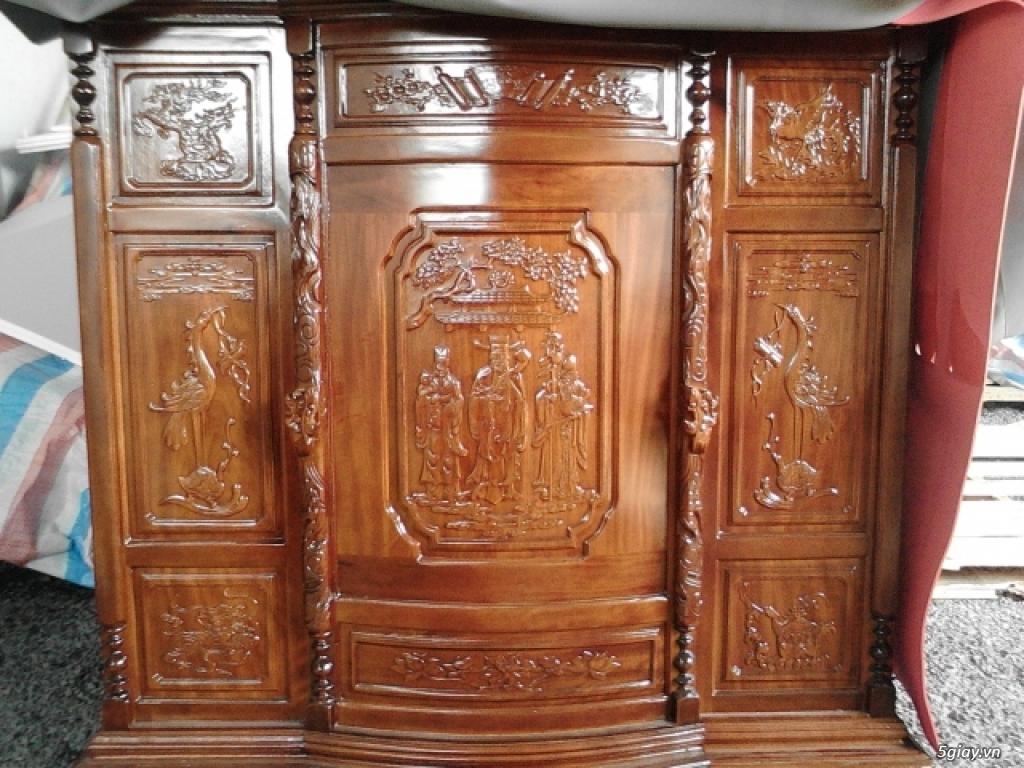 Giường  tủ salon gỗ tự nhiên bền đẹp giá siêu rẻ - 16
