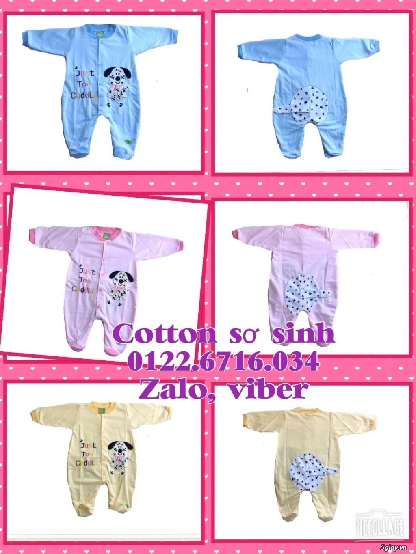 Áo quần cotton trẻ sơ sinh 12k, nón khăn bao tay chân, vớ giá rẻ new 100% hàng mới update - 26