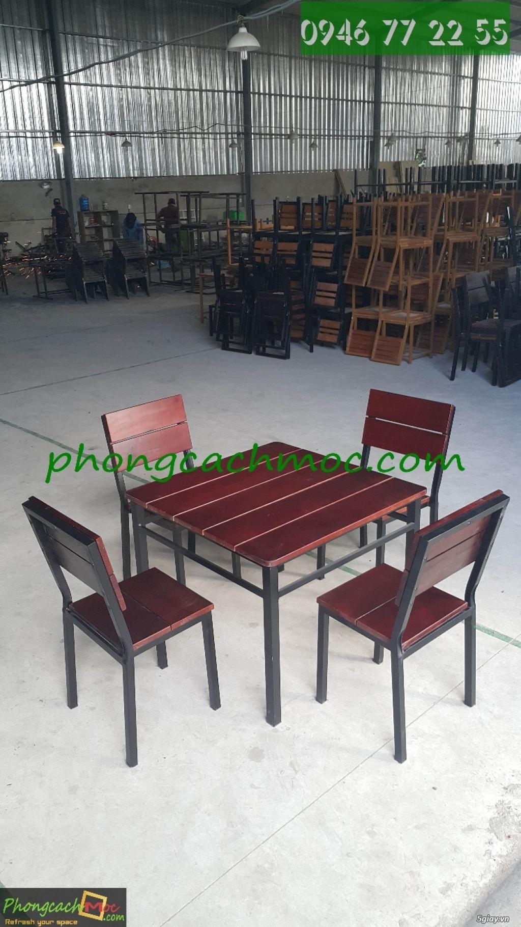 Bàn ghế quán ăn - bàn ghế quán nhậu - bàn ghế quán nướng - bàn ghế quán BBQ - 3