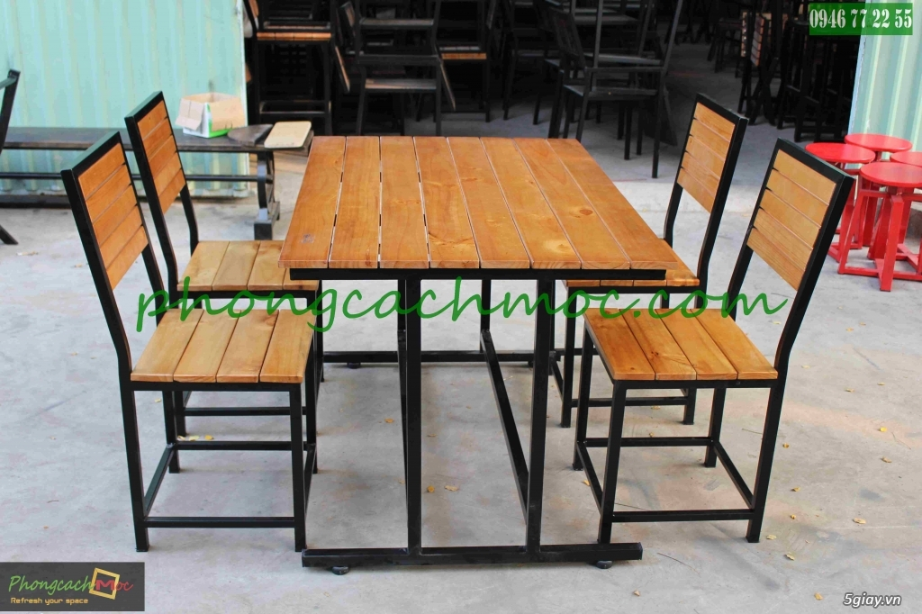 Bàn ghế quán ăn - bàn ghế quán nhậu - bàn ghế quán nướng - bàn ghế quán BBQ - 7