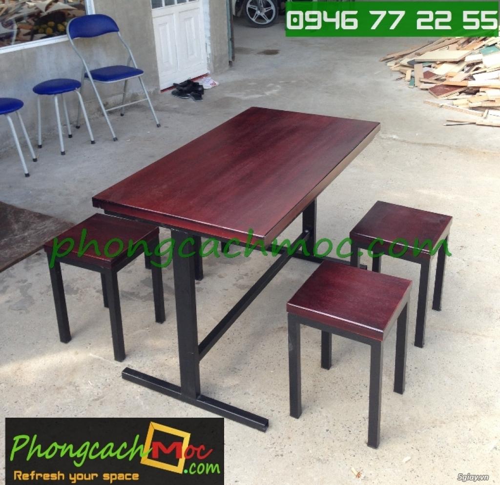 Bàn ghế quán ăn - bàn ghế quán nhậu - bàn ghế quán nướng - bàn ghế quán BBQ - 4