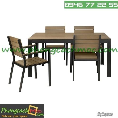 Bàn ghế quán ăn - bàn ghế quán nhậu - bàn ghế quán nướng - bàn ghế quán BBQ - 6