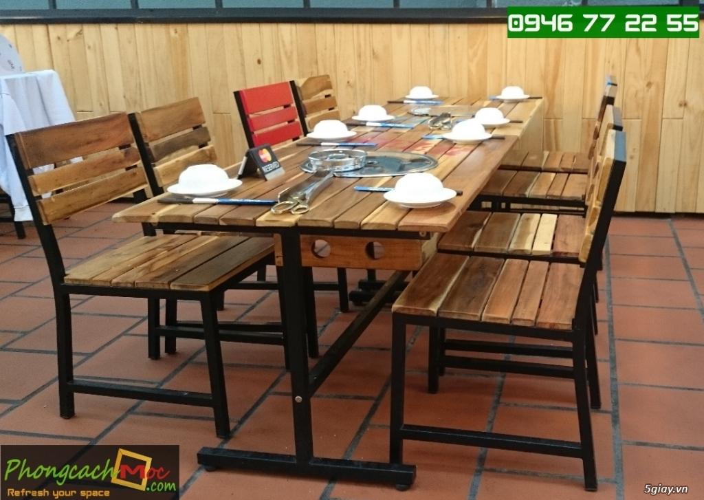 Bàn ghế quán ăn - bàn ghế quán nhậu - bàn ghế quán nướng - bàn ghế quán BBQ - 8