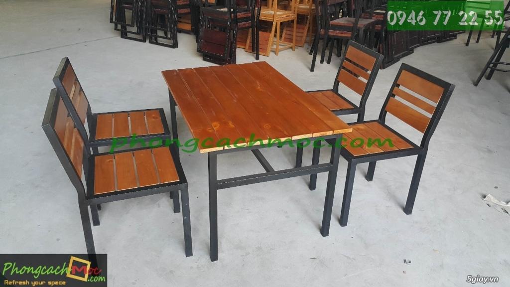 Bàn ghế quán ăn - bàn ghế quán nhậu - bàn ghế quán nướng - bàn ghế quán BBQ - 2