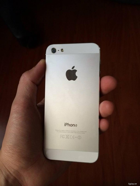 iPhone 5 32GB Trắng Quốc Tế máy đẹp keng xà beng 99,99% giá cực yêu chỉ 3tr... - 1