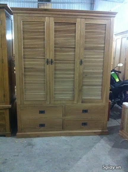 Bàn ghế giường tủ gỗ sồi Mỹ và Nga giá tốt nhất Sài Gòn - 13