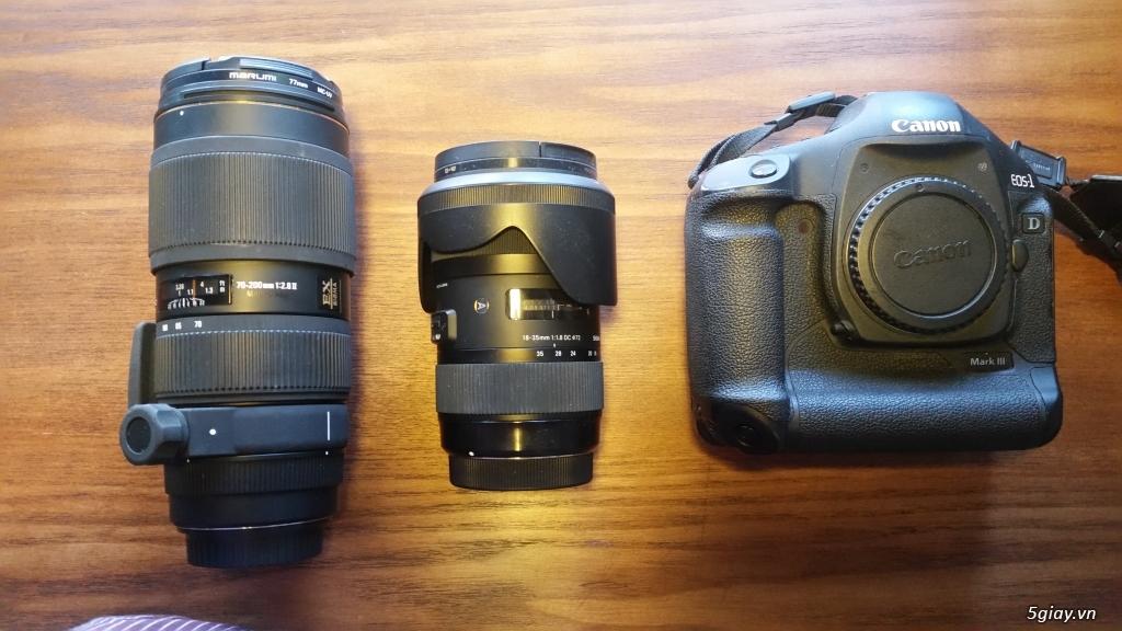 Thanh lý thiết bị 1D3 canon + 70-200 sigma + 18-35 sigma - 2