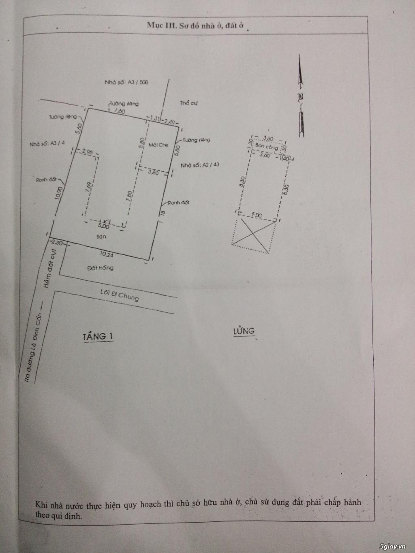 Nhà đường LÊ ĐÌNH CẨN 12,5mx16,5m giá 3,2tỷ.