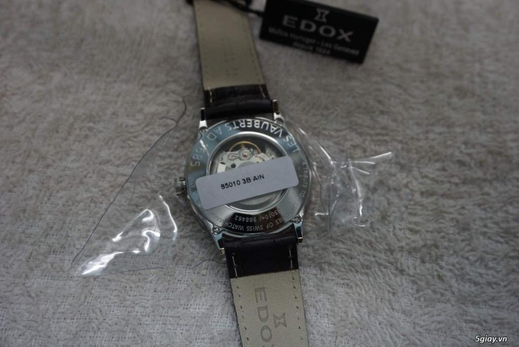 Đồng hồ Thụy Sỹ Edox Les Vauberts Open Heart - Chính hãng - Mới 100%