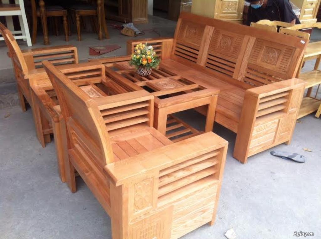 Bàn ghế giường tủ gỗ sồi Mỹ và Nga giá tốt nhất Sài Gòn - 3