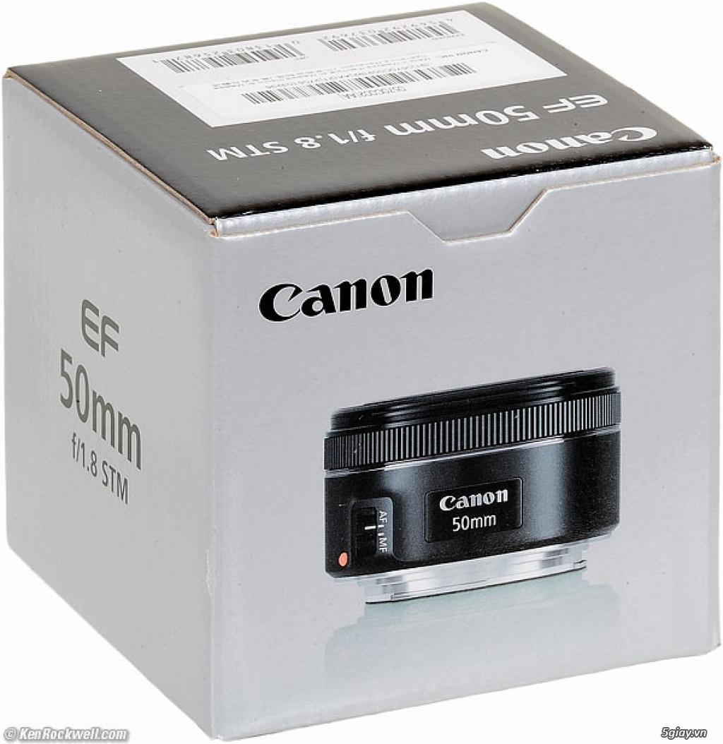 Lens canon 50mm 1.8 STM chính hãng lê bảo minh 100% 2tr650