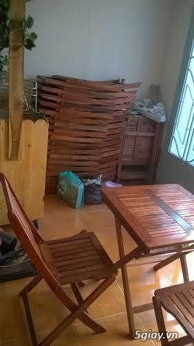 thanh lý bàn, ghế, tủ gỗ bán cafe mới mua 2 tháng còn như mới - 5