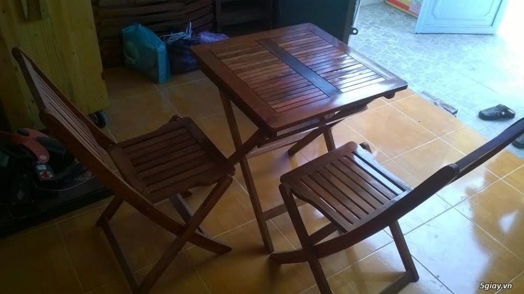 thanh lý bàn, ghế, tủ gỗ bán cafe mới mua 2 tháng còn như mới - 3