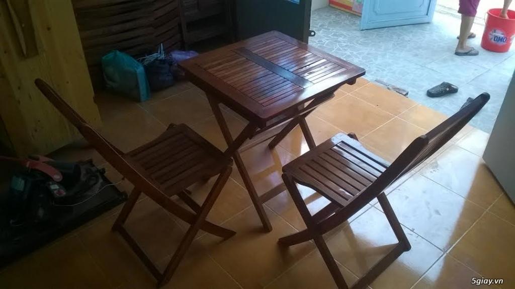 thanh lý bàn, ghế, tủ gỗ bán cafe mới mua 2 tháng còn như mới - 4