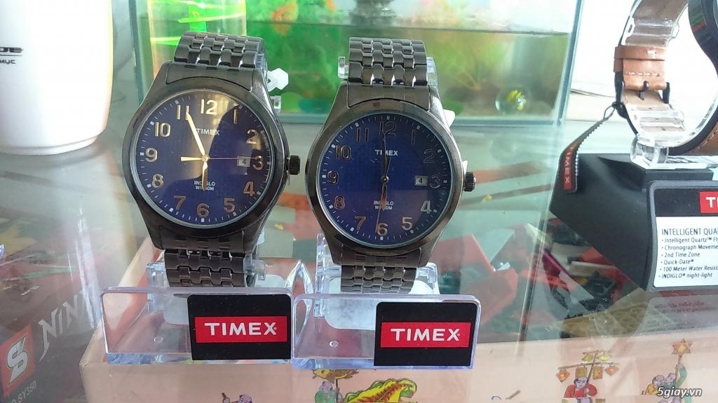 Cần bán đồng hồ Timex Nam T2P2039J  dây thép đen xám chính hãng mới 100% - 1