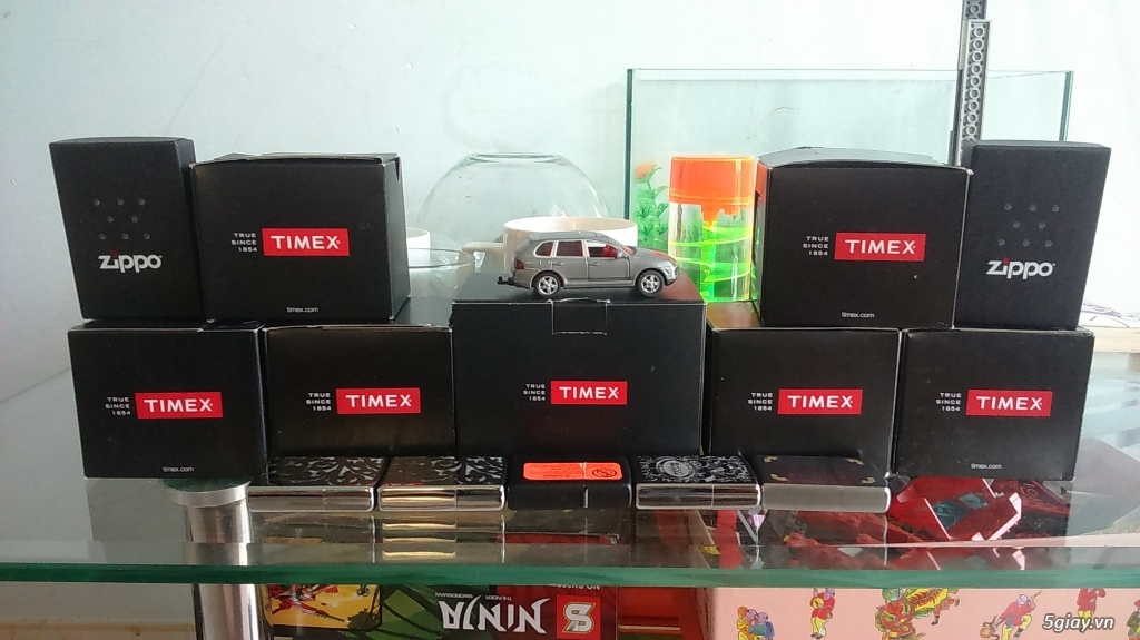Cần bán đồng hồ Timex Nam T2P2039J  dây thép đen xám chính hãng mới 100% - 3