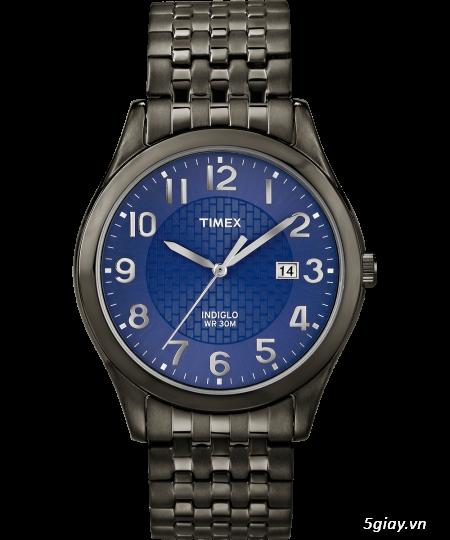 Cần bán đồng hồ Timex Nam T2P2039J  dây thép đen xám chính hãng mới 100% - 4