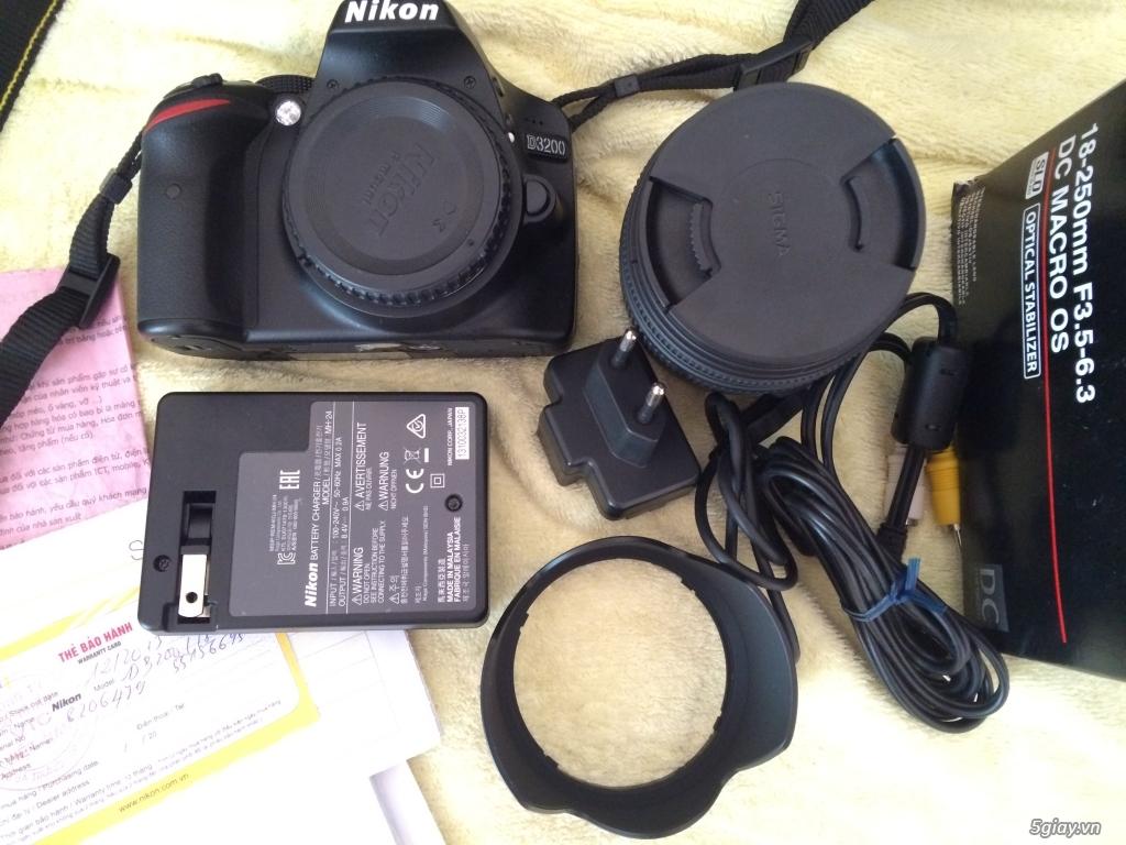 Nikon D3200 + Len SIGMA 18-250MM F3.5-6.3 - 8