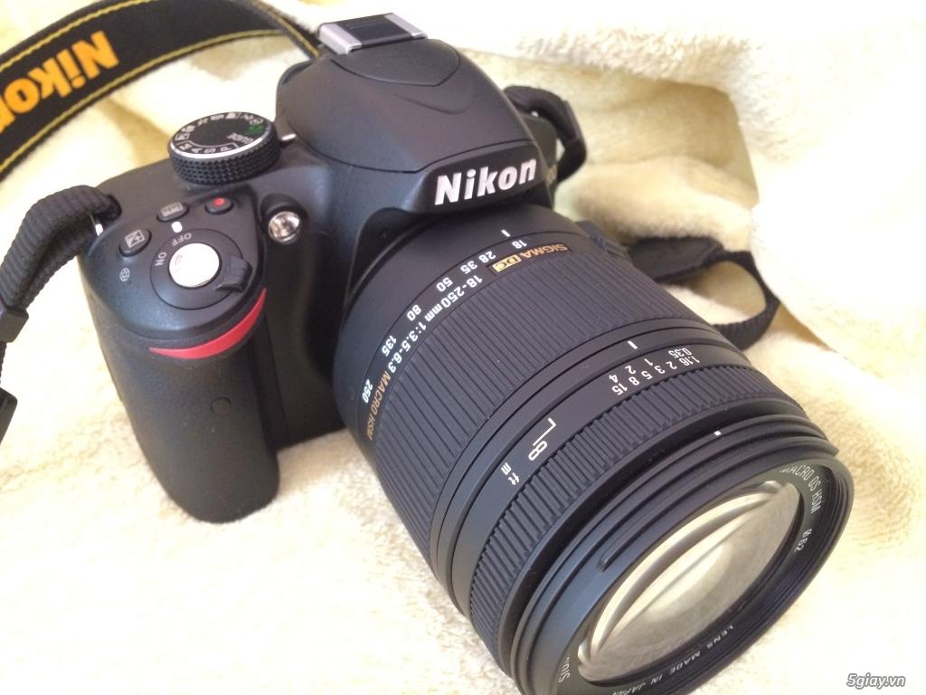 Nikon D3200 + Len SIGMA 18-250MM F3.5-6.3