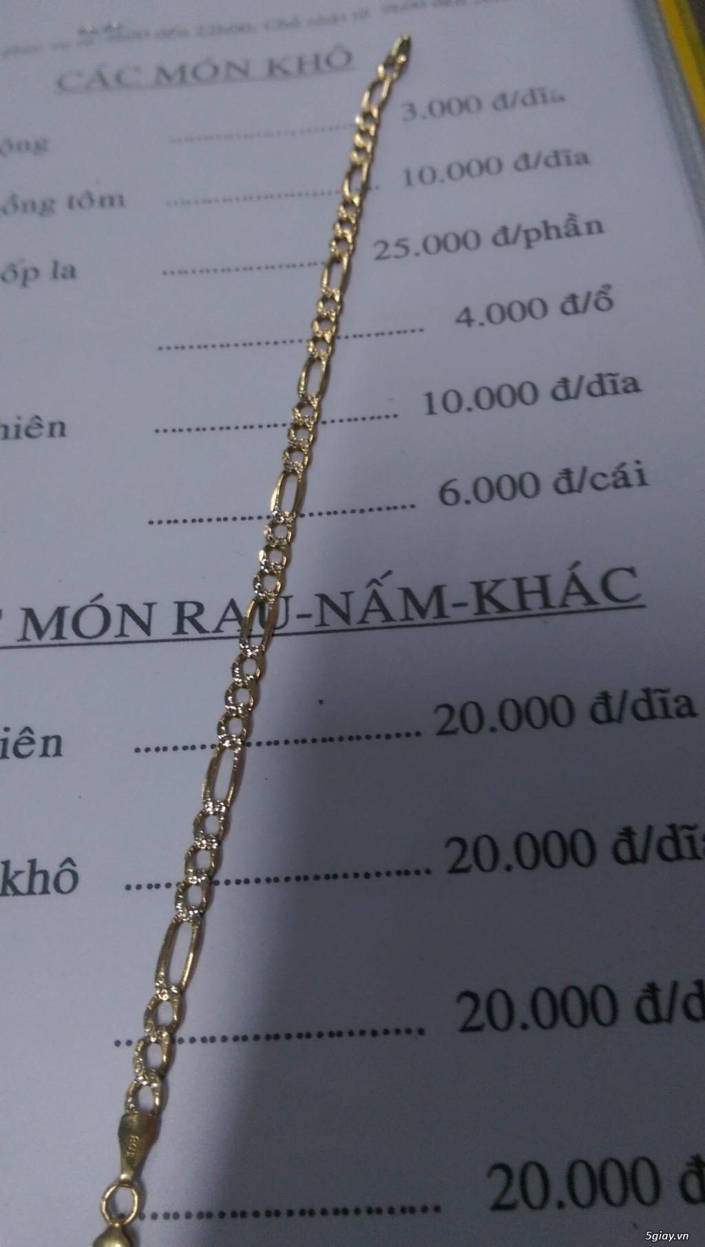 Lắc Tay Vang Y 10k Gold Bracelet Made In Italy Bao Kiểm định