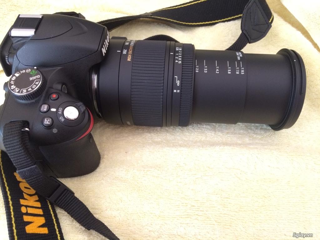 Nikon D3200 + Len SIGMA 18-250MM F3.5-6.3 - 4