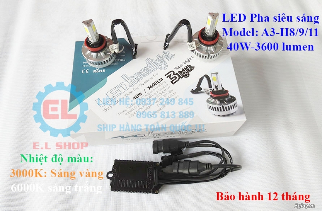 E.L SHOP - Đèn Led siêu sáng xe ô tô: XHP70, XHP50, Philips Lumiled, gương cầu xenon... - 30