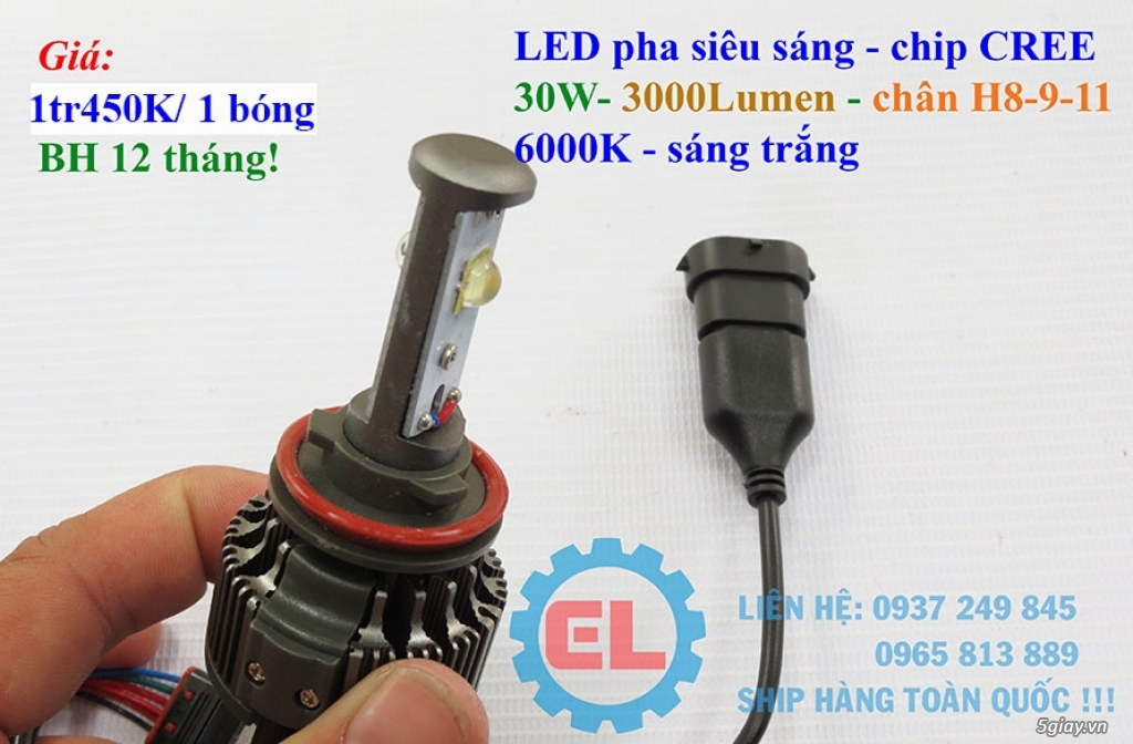 E.L SHOP - Đèn Led siêu sáng xe ô tô: XHP70, XHP50, Philips Lumiled, gương cầu xenon... - 18