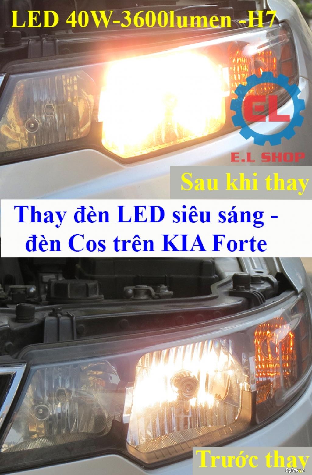 E.L SHOP - Đèn Led siêu sáng xe ô tô: XHP70, XHP50, Philips Lumiled, gương cầu xenon... - 24
