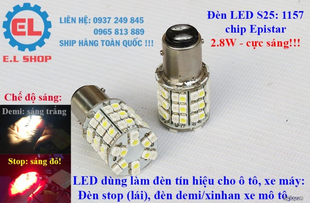 E.L SHOP - Đèn Led siêu sáng xe ô tô: XHP70, XHP50, Philips Lumiled, gương cầu xenon... - 13