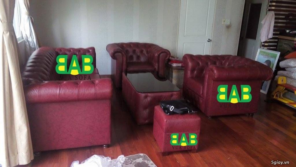 SOFA Siêu Cao Cấp: Khung sườn gỗ đỏ, Nệm ngồi Kymdan mới 100%, Da bò ITALIA. Ký hợp đồng công chứng - 31