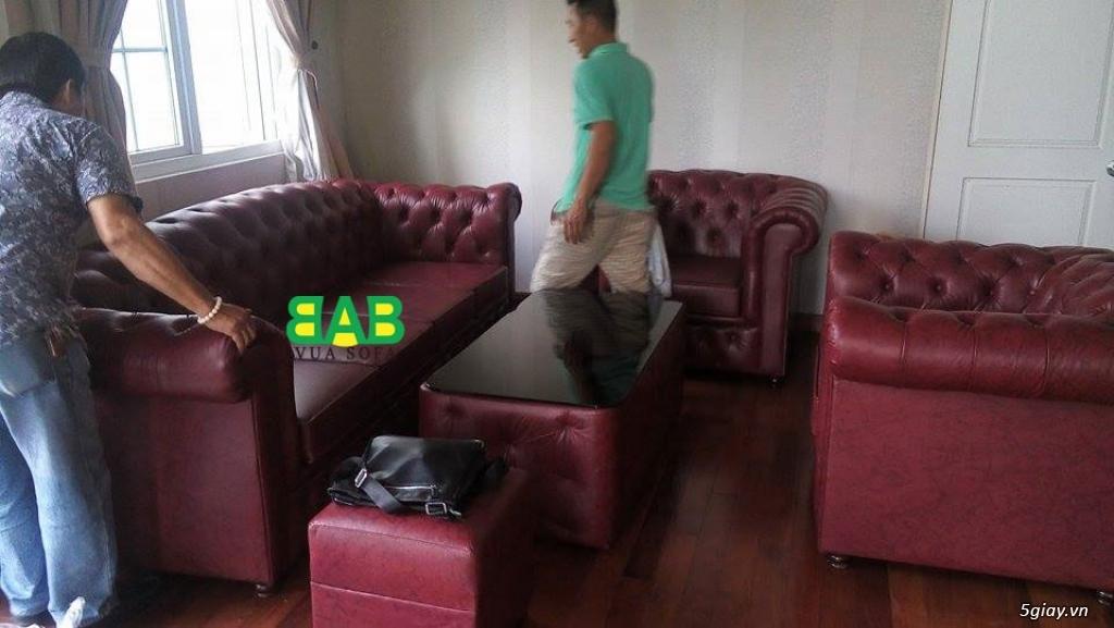 SOFA Siêu Cao Cấp: Khung sườn gỗ đỏ, Nệm ngồi Kymdan mới 100%, Da bò ITALIA. Ký hợp đồng công chứng - 30