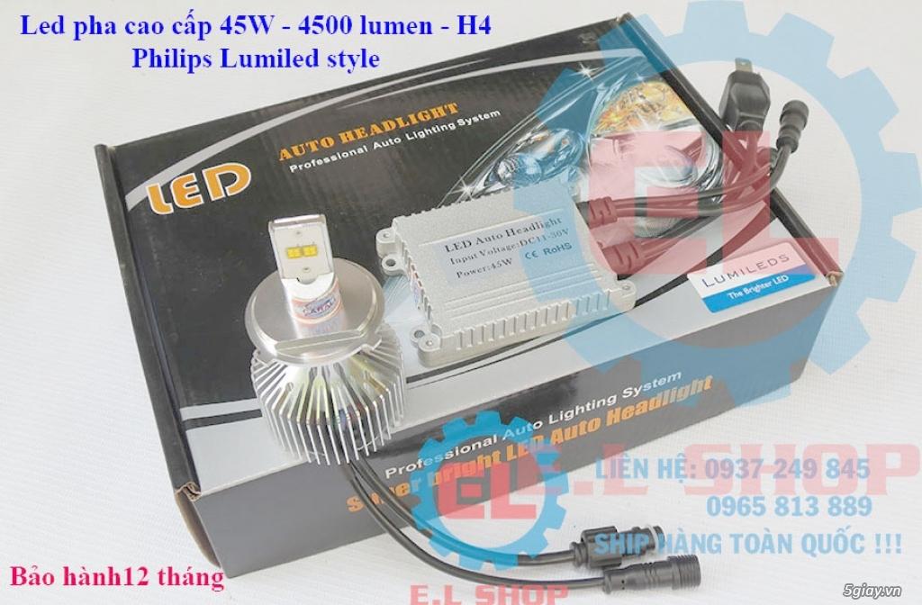 E.L SHOP - Đèn Led siêu sáng xe ô tô: XHP70, XHP50, Philips Lumiled, gương cầu xenon... - 12