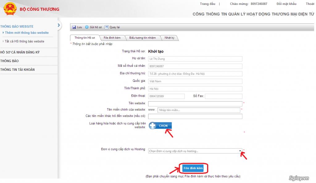 Quy trình đăng ký website TMĐT với cá nhân và doanh nghiệp - 5