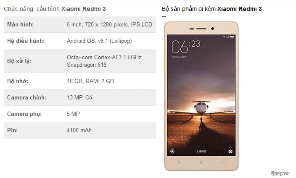 [Mr Bách Khoa] mua Xiaomi Redmi 3 giá tốt + quà tặng tặng đt Land Power A8+ - 4