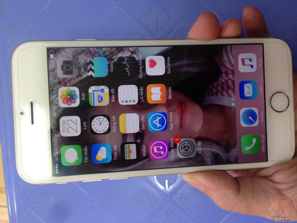 Iphone 6 128gb,màu bạc, quốc tế,nguyên zin,mới 99% - 1