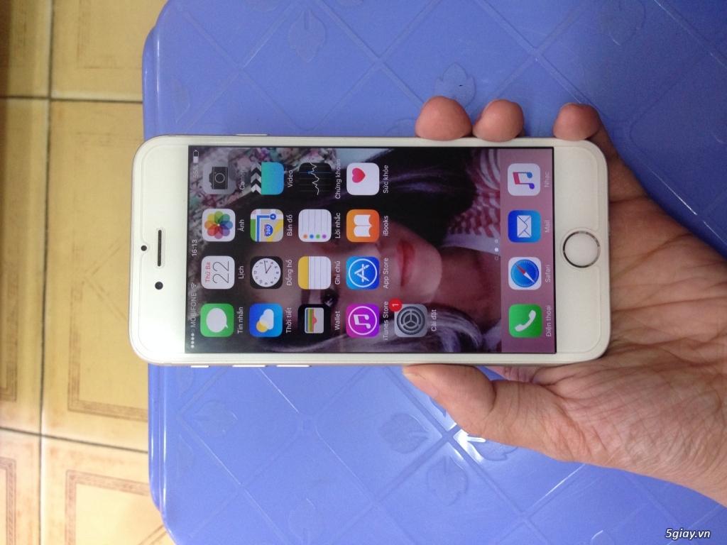 Iphone 6 128gb,màu bạc, quốc tế,nguyên zin,mới 99% - 2