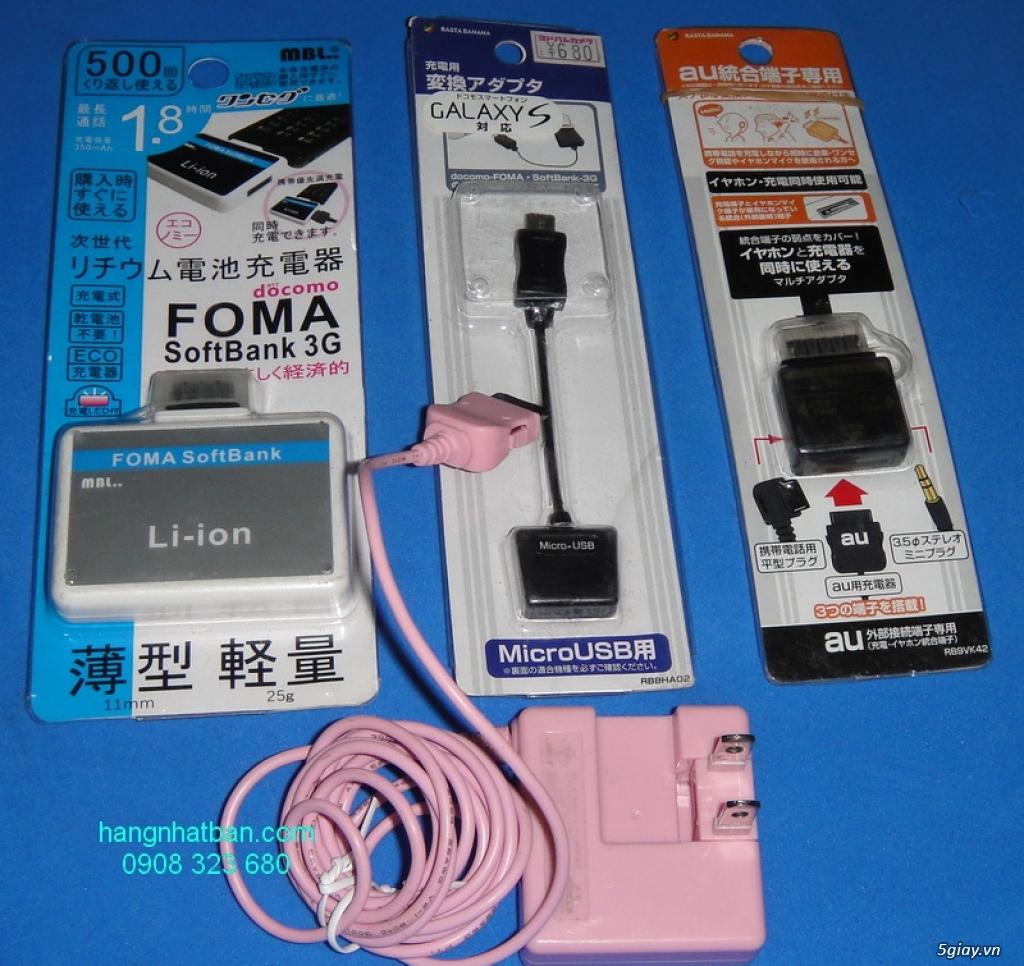 Tai nghe nhạc Japan NTT Docomo, tai nghe điện thoại Nhật, iPhone, xạc dự phòng Japan