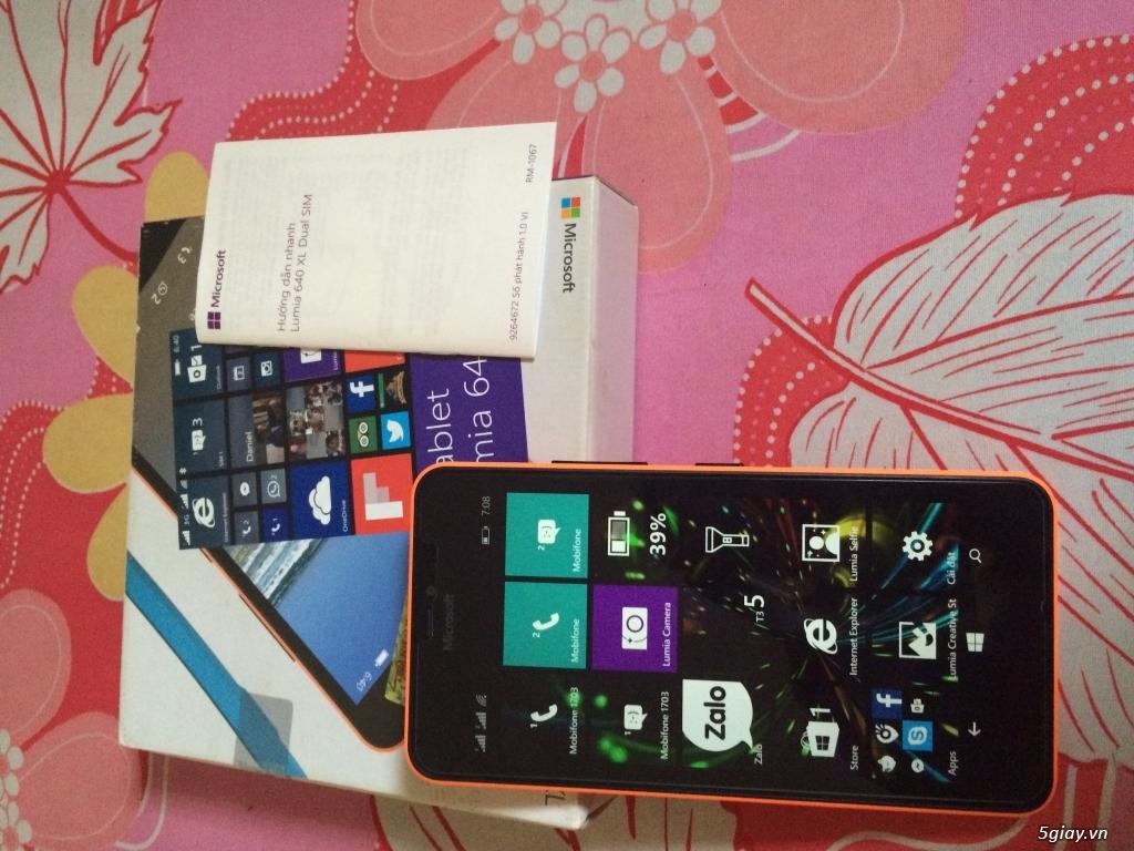 Lumia 640Xl cam còn bảo hành 11 tháng 20 ngày tại viễn thông A