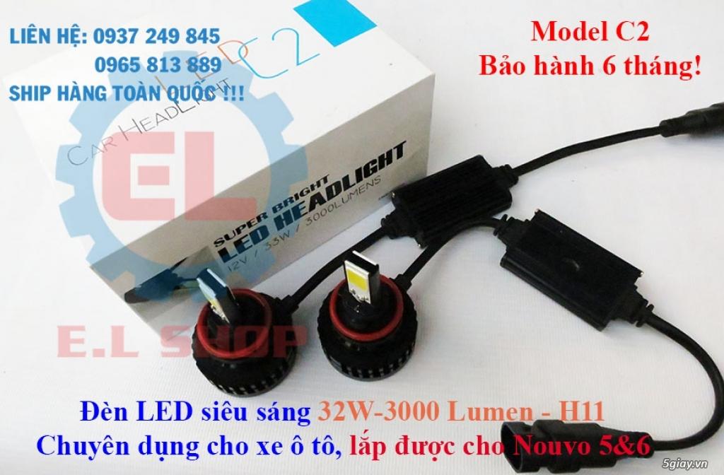 E.L SHOP Đèn led siêu sáng xe mô tô: XHP50, XHP70 i7, Cree, Philips Lumiled,Gương cầu LED xe gắn máy - 15