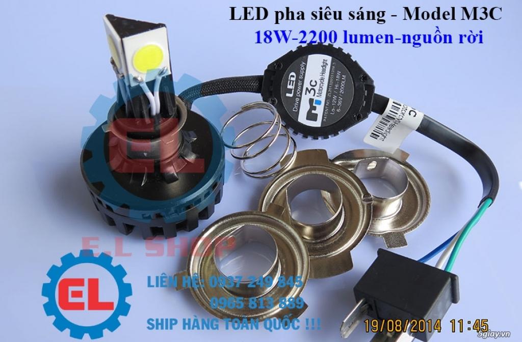 E.L SHOP Đèn led siêu sáng xe mô tô: XHP50, XHP70 i7, Cree, Philips Lumiled,Gương cầu LED xe gắn máy - 7