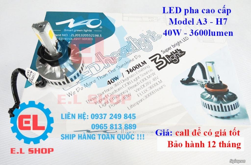 E.L SHOP Đèn led siêu sáng xe mô tô: XHP50, XHP70 i7, Cree, Philips Lumiled,Gương cầu LED xe gắn máy - 19